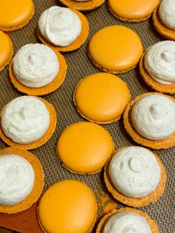 Dorie Greenspan's Parisian Macarons, being filled