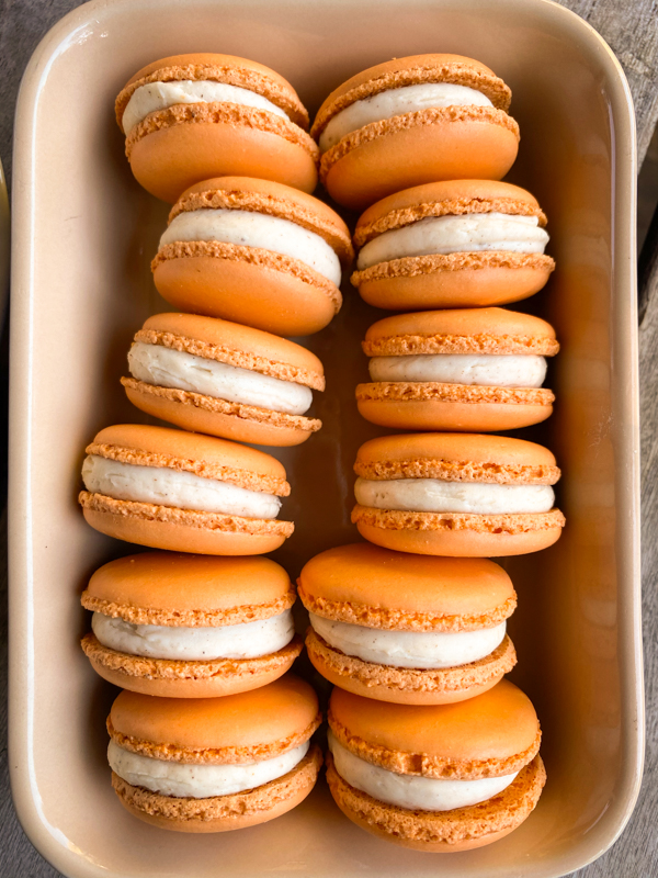 Dorie Greenspan's Parisian Macarons in a dish