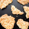 Dorie Greenspan Cheddar-Seed Wafers from Dorie's Cookies on a black board