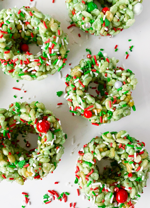 Rice Kirspie Wreaths for the holidays