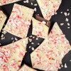 Peppermint Bark on a black serving tray