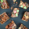 Cross section of Rocky Road Chocolate Crackle Slice