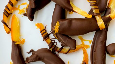 Chocolate dipped orange peel (Orangettes)