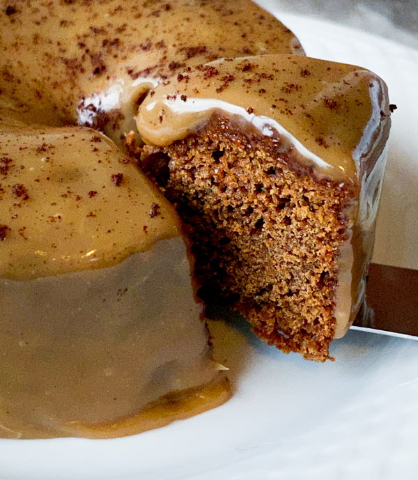 A slice of Molasses Coffee Cake from Everyday Dorie
