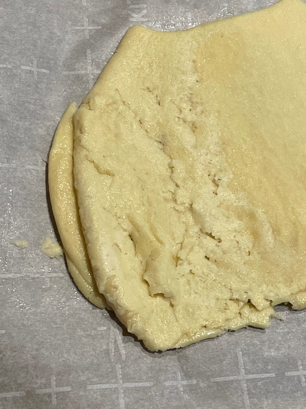 Caramel-Sugar Pufflet Dough.