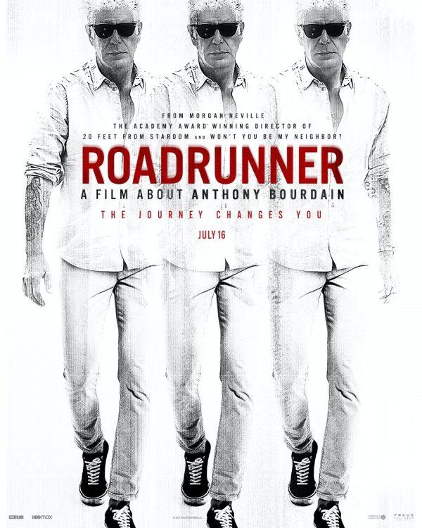 Anthony Bourdain's Roadrunner movie poster.